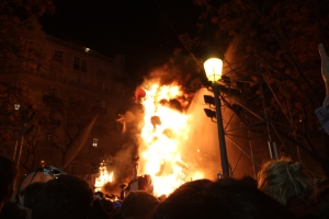 Night of 'La Crema' during Las Fallas