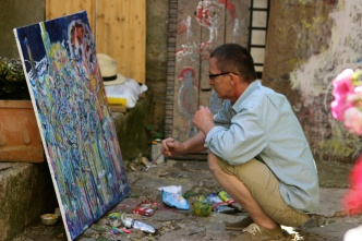 A local painter in Groznjan