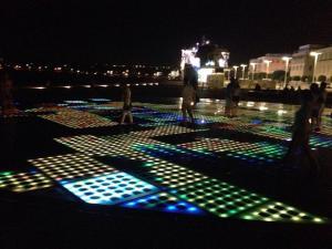 Solar light show of Zadar