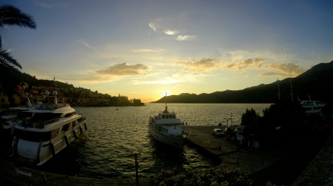 Sunsets in Korcula.