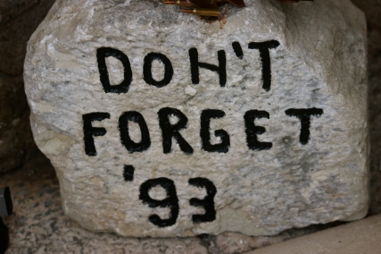 Reminders not to forget their past.