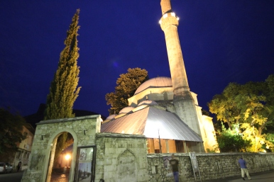 A local Mosque all lit up.