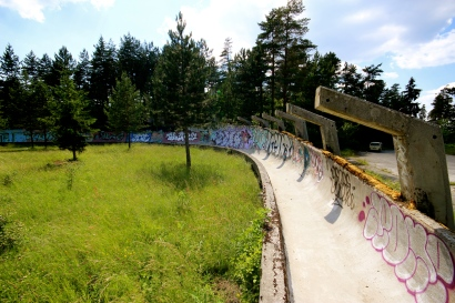 The bobsled track.