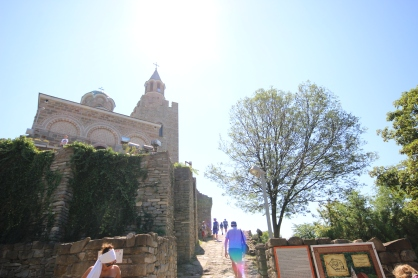 The church at the very top of the fortress.