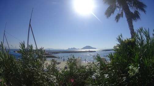 Turgutreis Beach, where you can see Greek Islands.