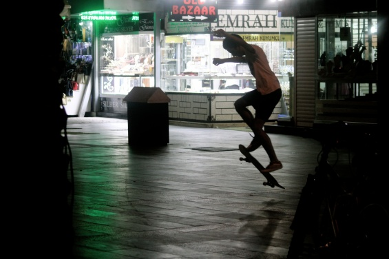 A local skateboarder.